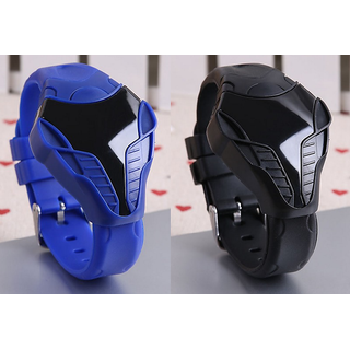 Iron Man LED Watch Combo For Boys/girls Black And Blue By Dil2Deal