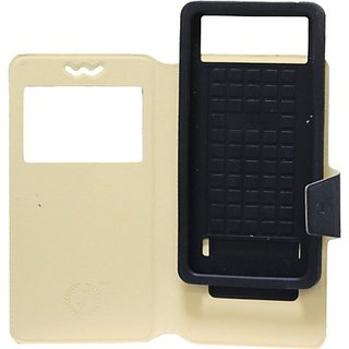 Jojo Flip Cover for Celkon Campus Crown Q40 (Black)