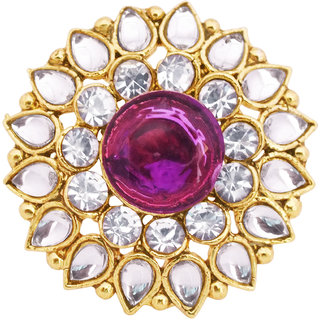 Traditional Kundan Studded Ring By 24Karats