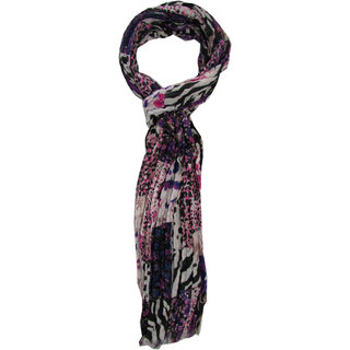 Multi Color Printed Stole With Wrinkels For Girls By Slover