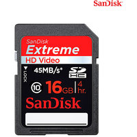 Sandisk Extreme HD Video Sdhc 16GB 45mb/S Class 10 Memory Card - 3093520
