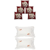 Sns Combo Of 3 Cushion Covers  2 Pillow Covers