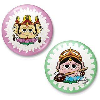 Goddess Saraswati Lord Brahma Fridge Magnet Combo 417