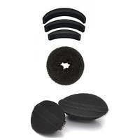 Out Of Box Set Of 3 Hair Puff And Donut Bun Medium Size With Velcro Puffs Oob1124 Extreme Hair Volumizer Bumpits