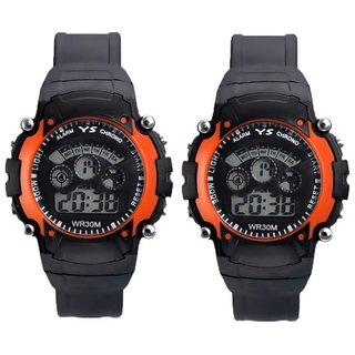 Sports Set of 2 New Collection 7light Digital Wrist Watch - For Boys, 7Loo