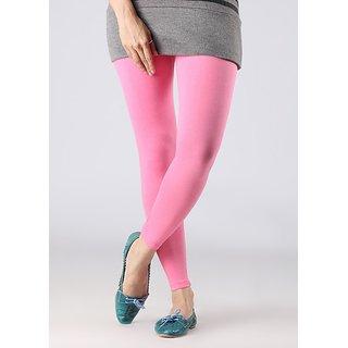 Stylobby Baby Pink Cotton Lycra Leggings