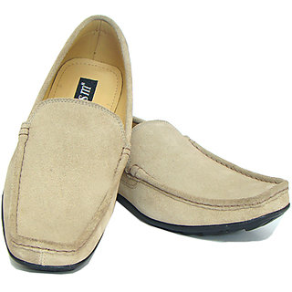 Leather Loafers In White