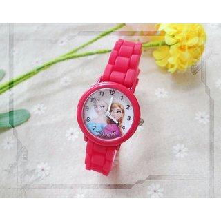 New Cartoon Children Watch Princess Elsa Anna Watches Fashion Girl Kids Student Cute  Sports Analog Wrist Watches 1pcs/l