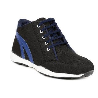 Golden Sparrow Black Blue Ankle Casual Shoes