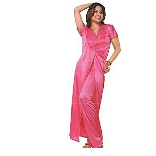 Cenizas Satin Nighty-3 pieces Set