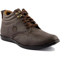 Golden Sparrow Men's  Brown Casual Shoes