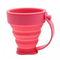 Mart And  Portable Silicone Retractable Folding Cup Telescopic Outdoor Travel Mug