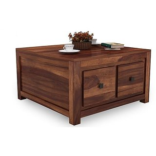 Altavista Demi Coffee Table Teak  Mahogany Finish class=