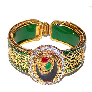 Jewels Kafe Kundan Flexible Kada