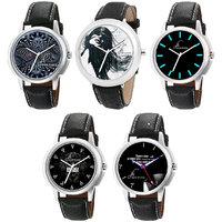 Jack Klein Graphic Stylish Elegant Analog Wrist Watches (Combo of 5)