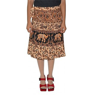 Gurukripa Shopee Printed Women's Wrap Around Skirts GSKWCK-A0294