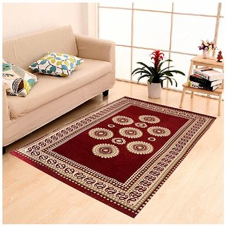 Peponi Red Ethnic Design Carpets For Living RoomBedroomDrawing Room45725 ft