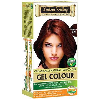 Indus valley Halal Natural Hair Color- Burgundy 3.6