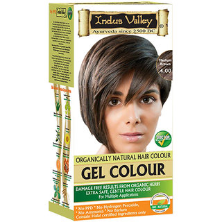 Indus valley Halal Natural Hair Color- Medium Brown 4.00