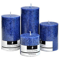 Sea Breeze Candles -Set Of Four Candle(Blue, Pack Of 4)