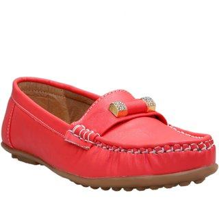 CATBIRD Peach Stylish Loafer For Women 518