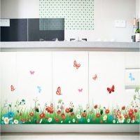 Hallway Living Room Bedroom Decorated Fresh Grass Waist Baseboard Wall Stickers Vintage Home Decor Wall Decals
