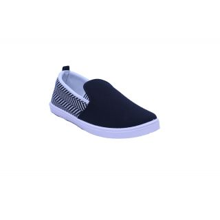 Floxtar Black Slip On Casual Shoes