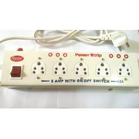 Power Strip - Extension Cord 5+1  (5 Amp) - Multipin Socket