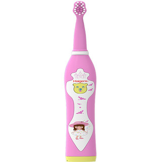 Haigerx Kids Electric Toothbrush - Sonicare - Rechargeable - Music - Timer (Pink)