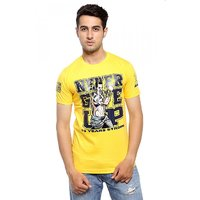 Attitude Men's Yellow Round Neck T-Shirt