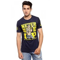 Attitude Men's Blue Round Neck T-Shirt