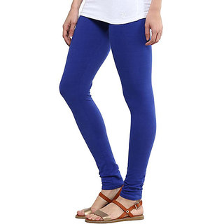 Pure Cotton made women leggings with colour guarantee (Blue XL)