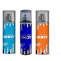 Layer'r Shot Blue Blaze, Deep Desire, Smokin Hot Deodorant (pack Of 3) 135ml Each