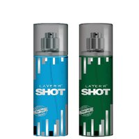 Layer'r Shot Blue Blaze, Royal Jade Deodorant (pack Of 2) 135ml Each