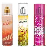 Layer'r Wottagirl Crimson Chic, Fresh Citrus, Classic Romance Deodorant (pack Of 3) 135ml Each