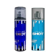 Layer'r Shot Deep Desire, Blue Blaze Deodorant (pack Of 2) 135ml Each