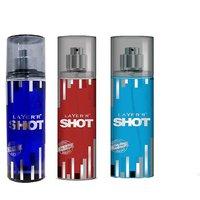 Layer'r Shot Deep Desire, Red Stallion, Blue Blaze Deodorant (pack Of 3) 135ml Each