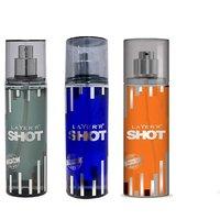 Layer'r Shot Power Play, Deep Desire, Smokin Hot Deodorant (pack Of 3) 135ml Each