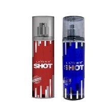 Layer'r Shot Red Stallion, Deep Desire Deodorant (pack Of 2) 135ml Each