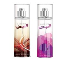 Layer'r Wottagirl Vanilla Twist, Secret Crush Deodorant (pack Of 2) 135ml Each