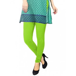 Pure Cotton made women leggings with colour guarantee (Light Green XXL)