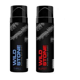 Wild Stone Thrill, Burst Body Spray (pack of 2) 120ml each