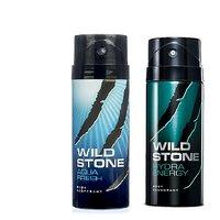 Wild Stone Aqua Fresh, Hydra Energy Deo (Set Of 2) 150ml Each