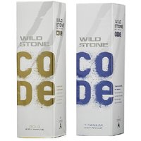 Wild Stone Code GOLD, TITANIUM Body Spray (pack Of 2) 120ml Each