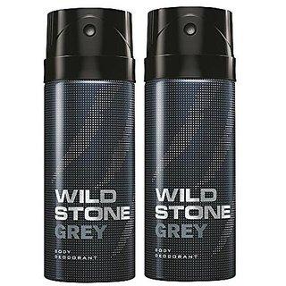 Wild Stone Grey Body Deodrant 150ml Set of 2 150ml each