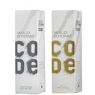 Wild Stone Code PLATINUM, GOLD Body Spray (pack of 2) 120ml each