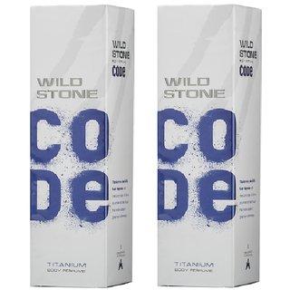 Wild Stone Code TITANIUM Body Spray (pack of 2) 120ml each