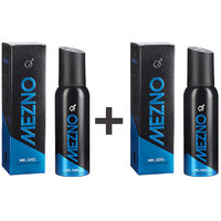 Mezno Mr. Cool-Fresh Active Fragrance Deodorant Body Spray For Men-24 Hrs Fresh Power-No Gas Deo-120ml(Buy 1 Get 1 Free)