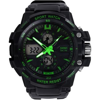 skmei imported trendy green color casual rugged analog and
