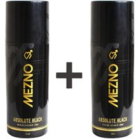 Mezno Absolute Black Premium Fragrance Deodorant Body Spray For Men - 24 Hrs Fresh Power Deo - 150ml (Buy 1 Get 1 Free )